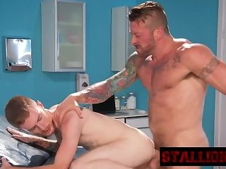 Lucky stud gets pounded by horny doctor big dong