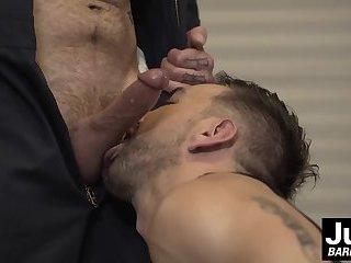 Jordan Levine barebacking deeply at Lucky Daniels ass