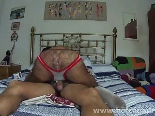 Chilean Mature Man Rides Dick and Takes Creampie