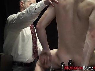 Gay mormon gets blowjob
