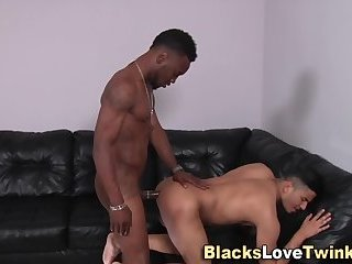 Ebony amateur bangs ass
