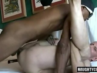 Huge dick gay anal sex with cumshot