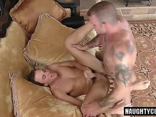 Tattoo gay rough sex with cumshot