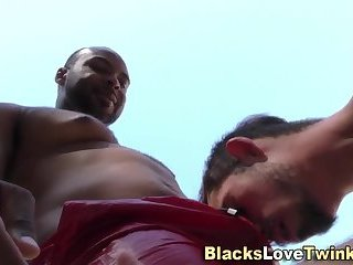 Gay ebony amateur spunks