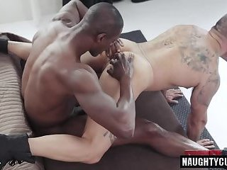 Big dick gay anal sex with facial