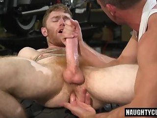 Hot gay domination and cumshot