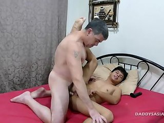 Daddy Barebacks Asian Boy George