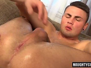 Hot gay gaping with cumshot