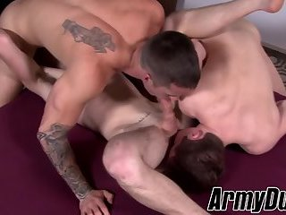 Quentin, Dominic and Scott barebacking hard with blowjobs