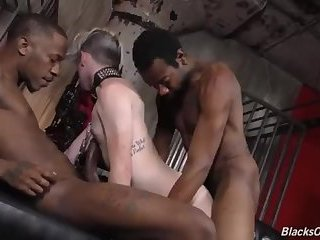 Black stud domination and banging a white gut