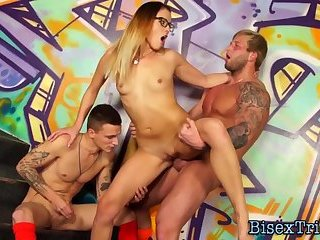 Bisex dude riding cock