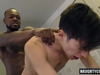 Big dick jock anal rimming and facial cum