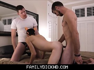 Father And Son Halloween Threesome