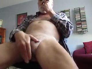 Clit rubbing with hot grandpa