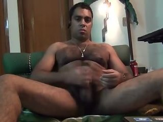 Thick Indian stud jerks a big juicy dick
