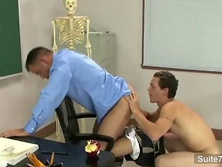 Sinful gay Teacher acquires Nailed By gay Student In Classroom