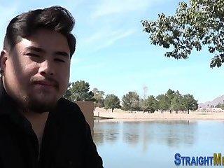 Chubby asian straighty