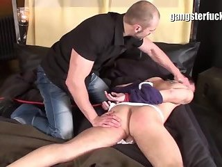 A powerful homosexual lad bonks A lad Hard In The arsehole!