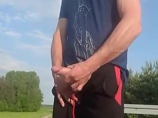 Pulling my dick on the side of the road