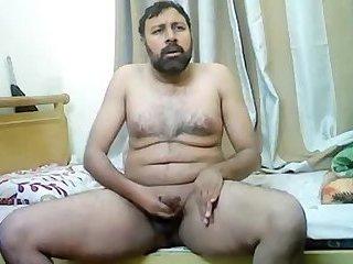 Indian dad jerking off