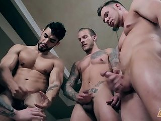Three homo men Have A raunchy collision
