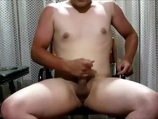 Thicc lad spits on his dick and gets to work