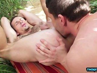 Hot son flip flop with cumshot