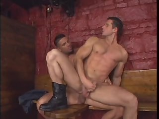 Uncut ramrod Sex Club Scene 5