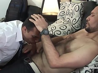 Everyone's favorite cum eating Asian twink Javey offers up his ass to Gilbert for a bareback