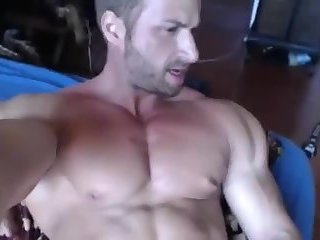 Big muscles, average cock.