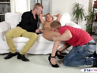 Assfucked young bisexual gets cocksucked mmf