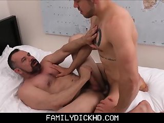 Gay father and son having sex