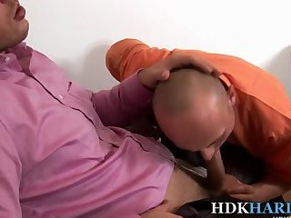 Bald hunks bareback fuck