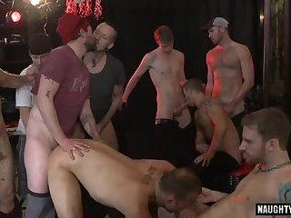Hot gay spanking and facial