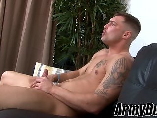 Amazingly hot hunk Calvin takes blows one off just for you