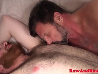 Mature otter dicksucked before squirting cum
