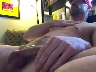 Cute dilf with a nice pierced cock