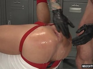 Tattoo gay double fisting and cumshot