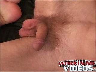 Tattooed amateur plays with his cock and makes it cum hard