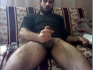 Sexy Arab stud jerking off