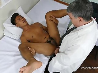 Daddy Bareback Fucks Asian Boy Josh