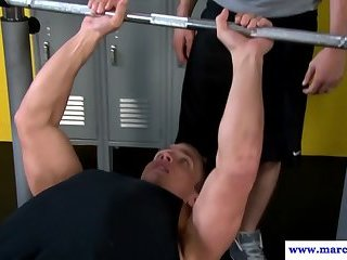 Muscular cut hunks rimming and drilling ass