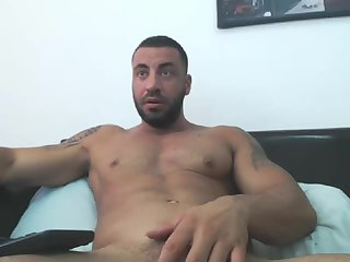 Arab Manbeast Edges His massive penis