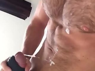 Hard bod dumps his wiener juice