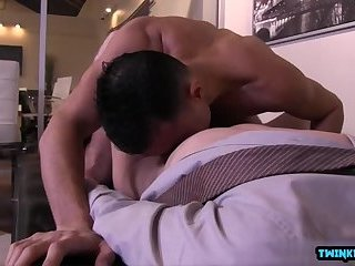 Hot twink anal sex and cumshot