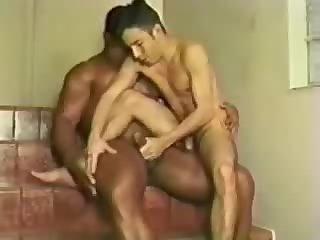 BIG black BRAZILLIAN DAD fucks white BOY