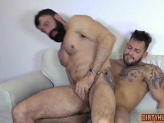 Muscle gay oral sex and cumshot