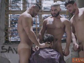 Muscle gay anal sex with facial