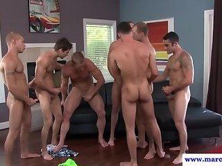 Muscular jocks enjoy anally pounding