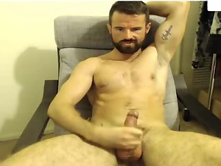Handsome dilf home alone and horny